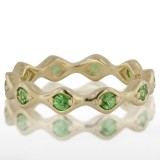 Ladies' Green Gold Tzavorite Ring